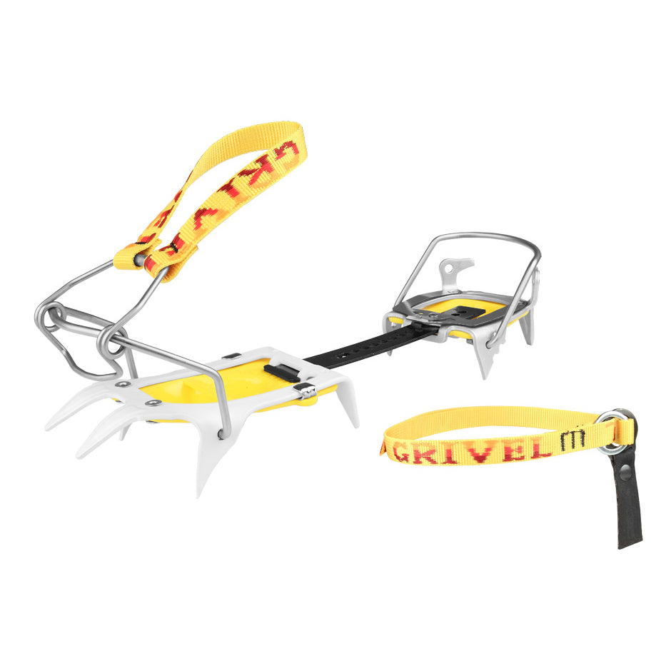 Grivel Ski Tour SkiMatic Crampons in yellow and, silver and black colours