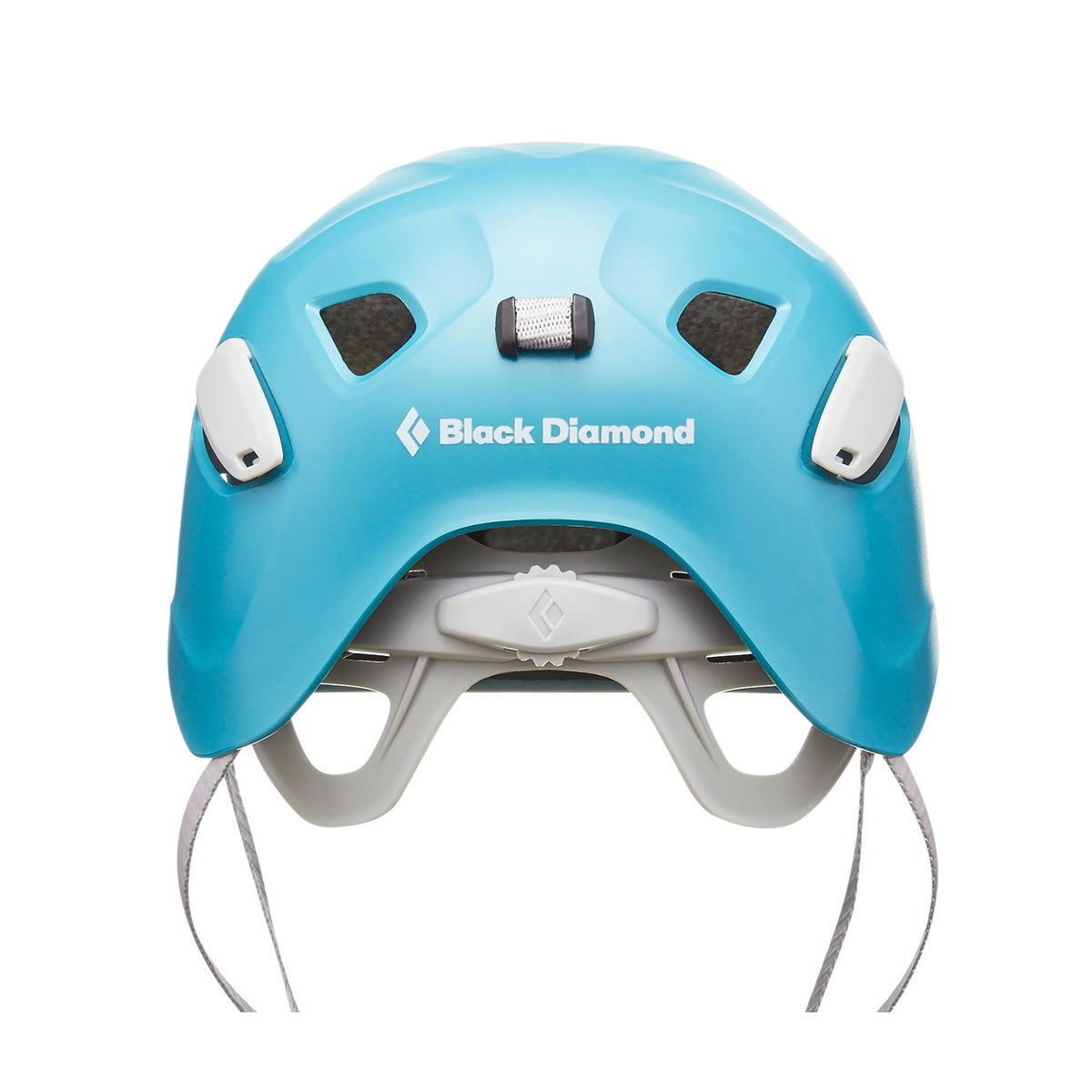 Black Diamond Half Dome Womens helmet, rear view showing adjustment features