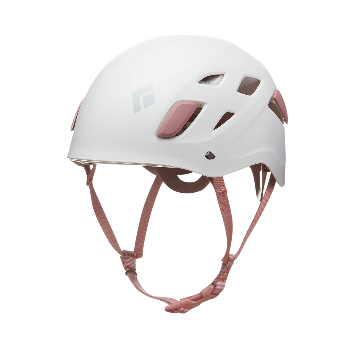 Black Diamond Half Dome Womens climbing helmet, front/side view, in white colour