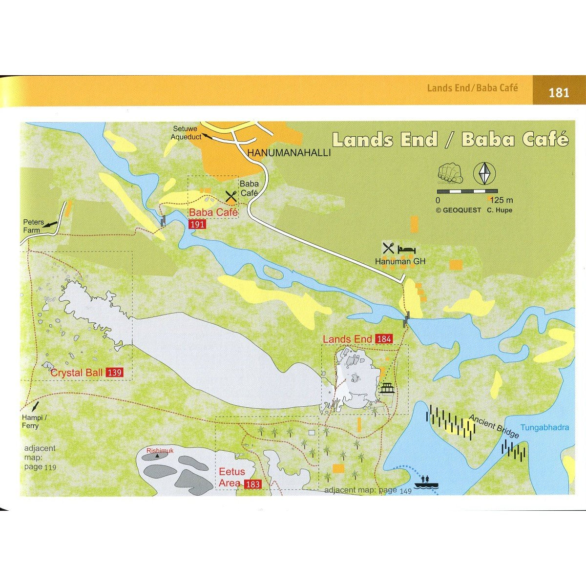 Golden Boulders: Hampi Bouldering, inside map page examples showing maps