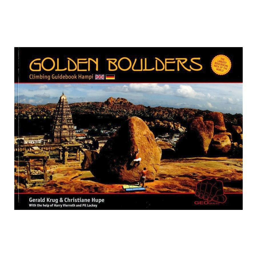 Golden Boulders: Hampi Bouldering guidebook, front cover