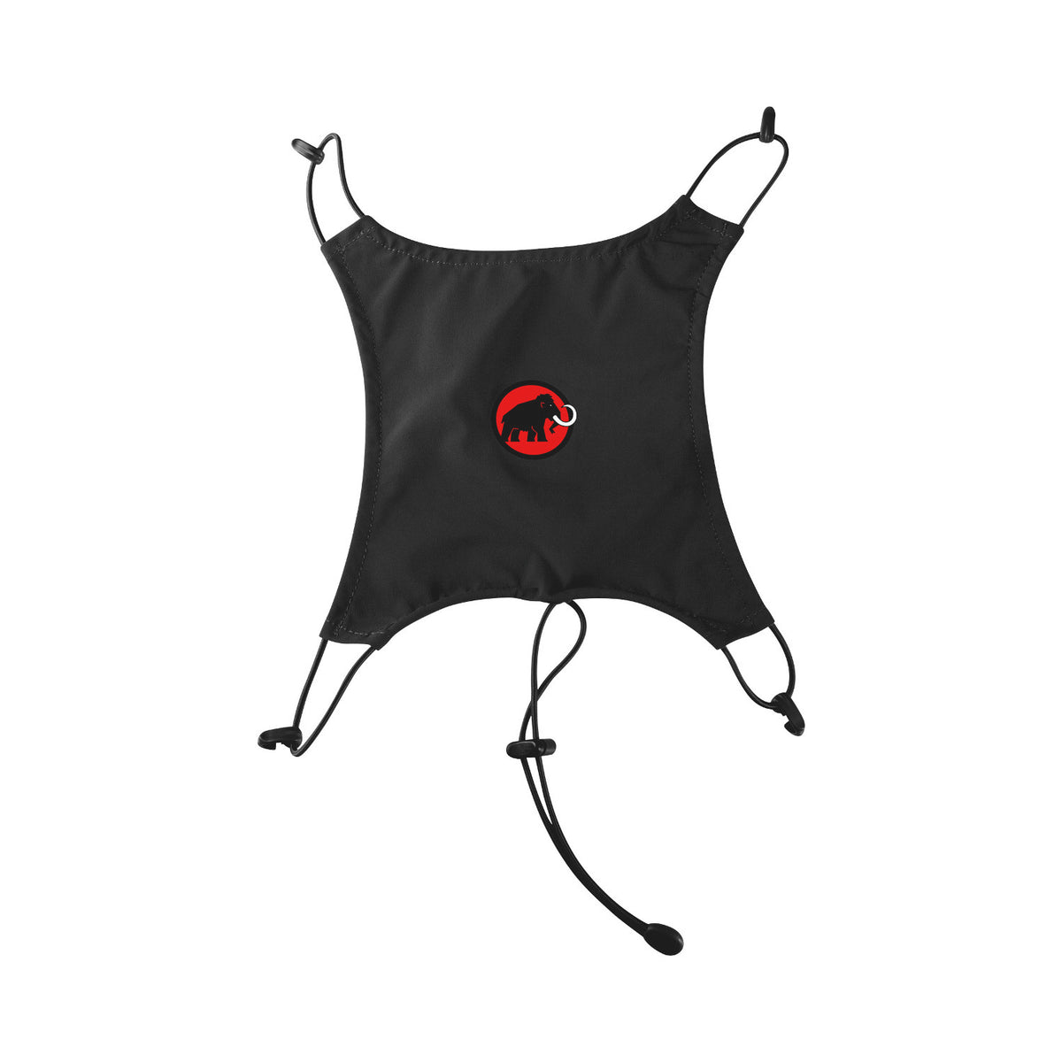 Mammut Helmet Holder shown opened out, in black colour