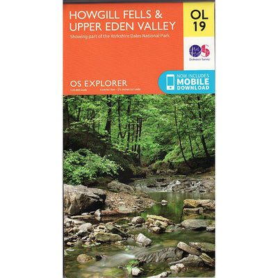 Howgill Fells and Upper Eden Valley - OS Explorer Map OL19