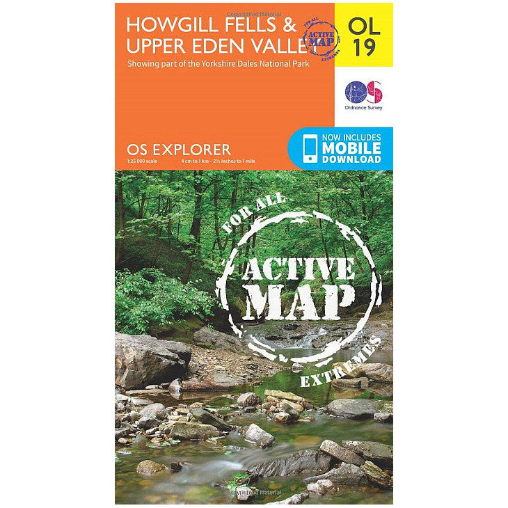 Howgill Fells and Upper Eden Valley - OS Explorer Map OL19 Active