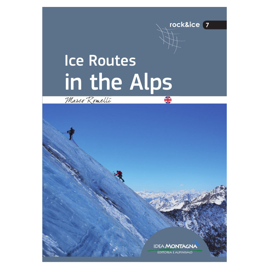 Ice Routes in the Alps climbing guidebook, front cover