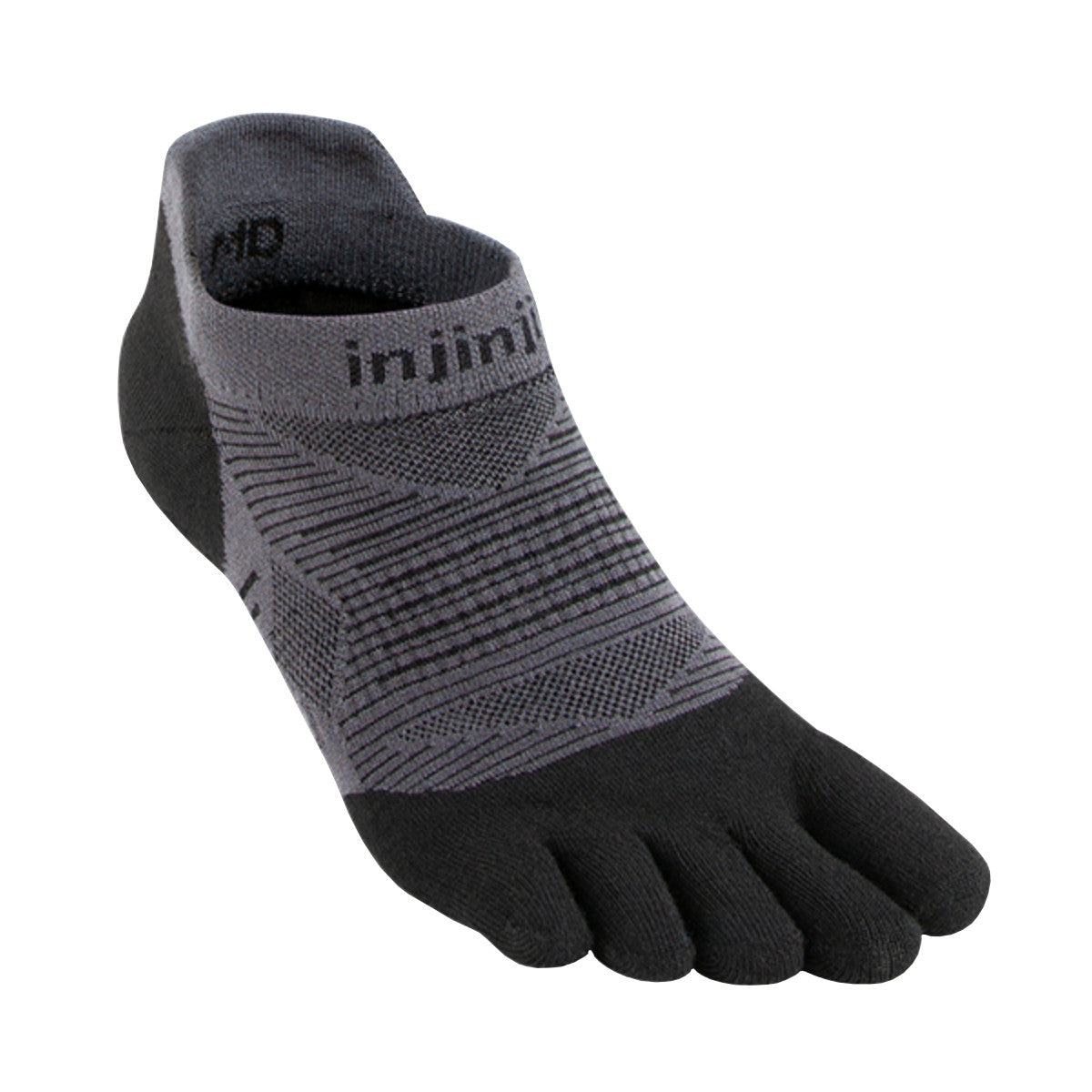 Injinji Run Lightweight No Show (Black)