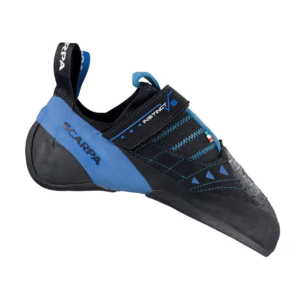 Scarpa Instinct VS-R climbing shoe, in black and blue colours