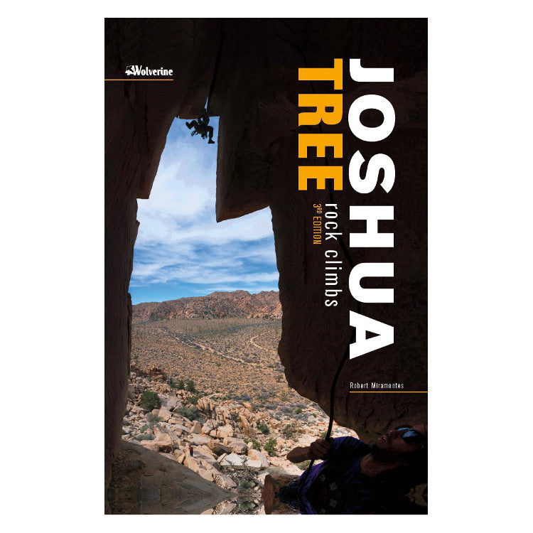 Joshua Tree Rock Climbs climbing guidebook, front cover