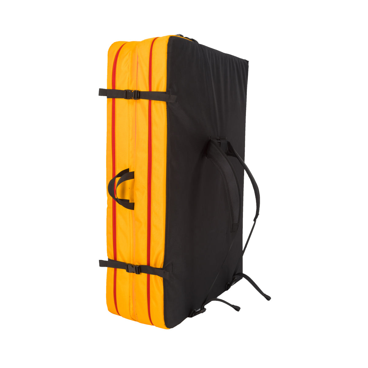 La Sportiva LaSpo Crash Pad, front/side view showing carry straps