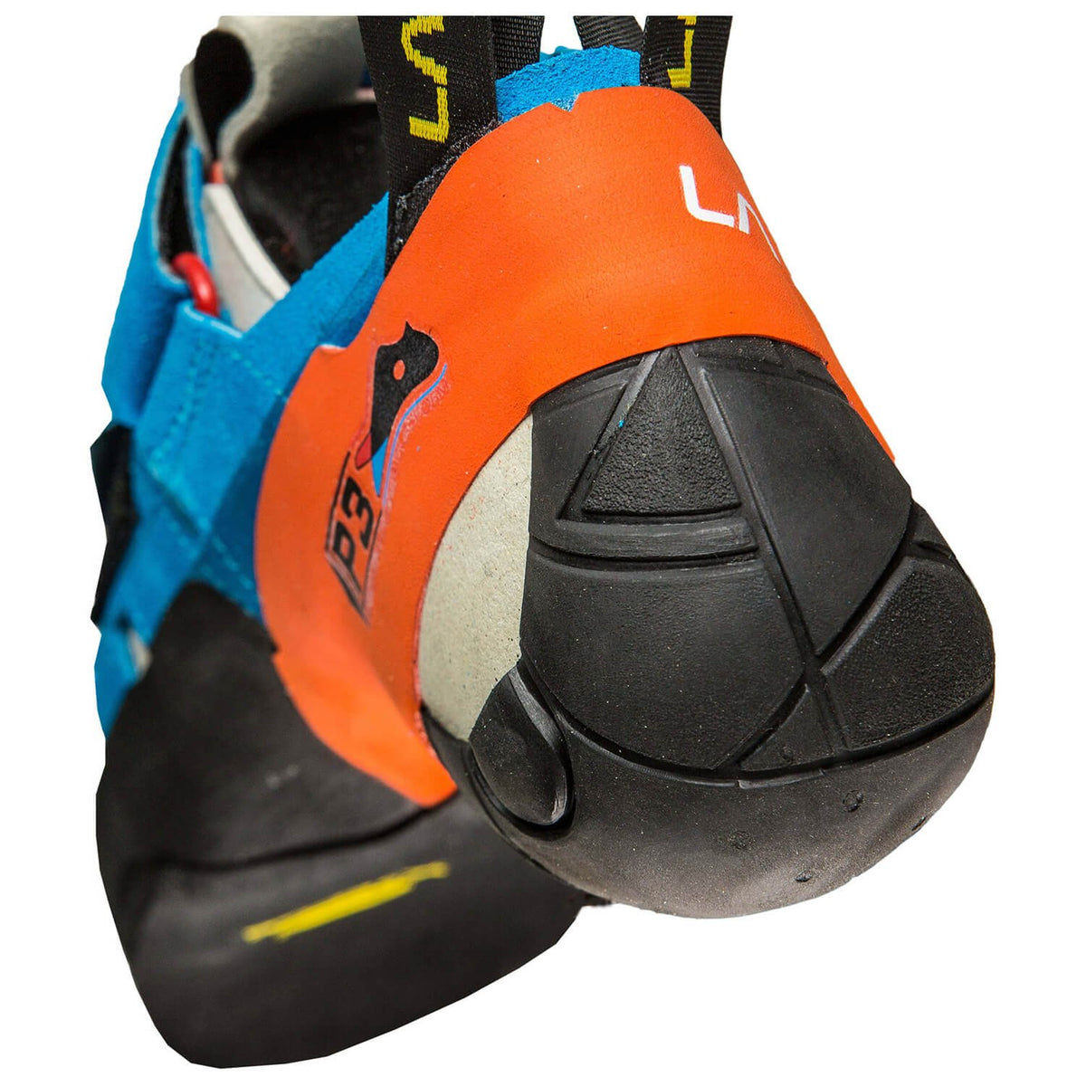 La Sportiva Otaki climbing shoe, view of the heel design