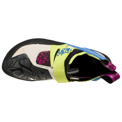 La Sportiva Skwama Women's climbing shoe as seen from above.