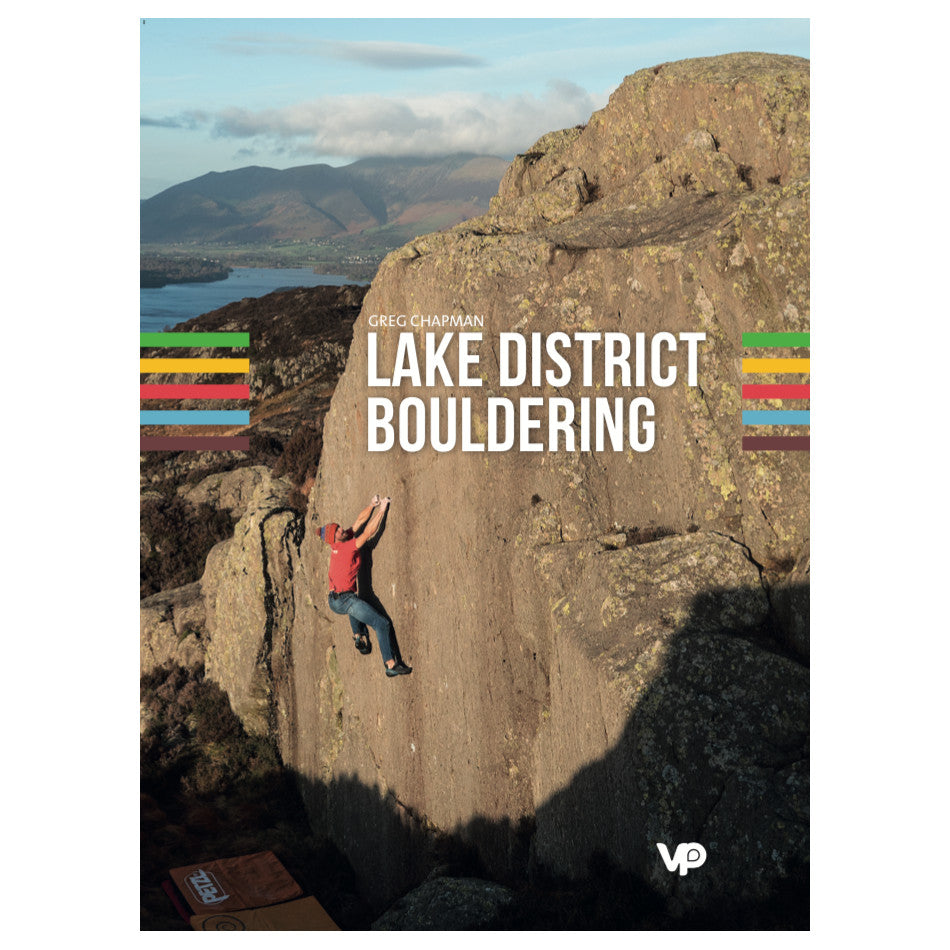 Lake District Bouldering guidebook, front cover