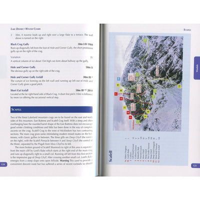 Lake District Winter Climbs guide, inside page examples