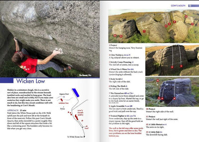 Lancashire Bouldering Guide, photo and topo examples