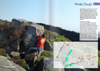 Lancashire Bouldering Guide, photo and map examples