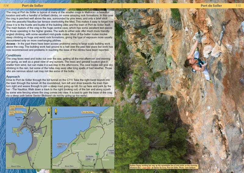 Spain: Mallorca guide, example inside pages showing maps and photos