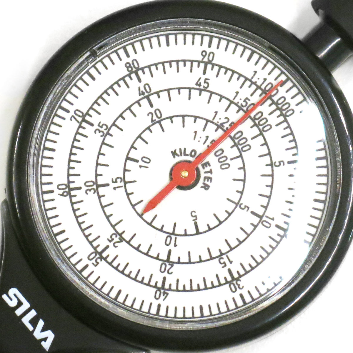 Close up view of the dial on the Silva Mechanical Map Measurer