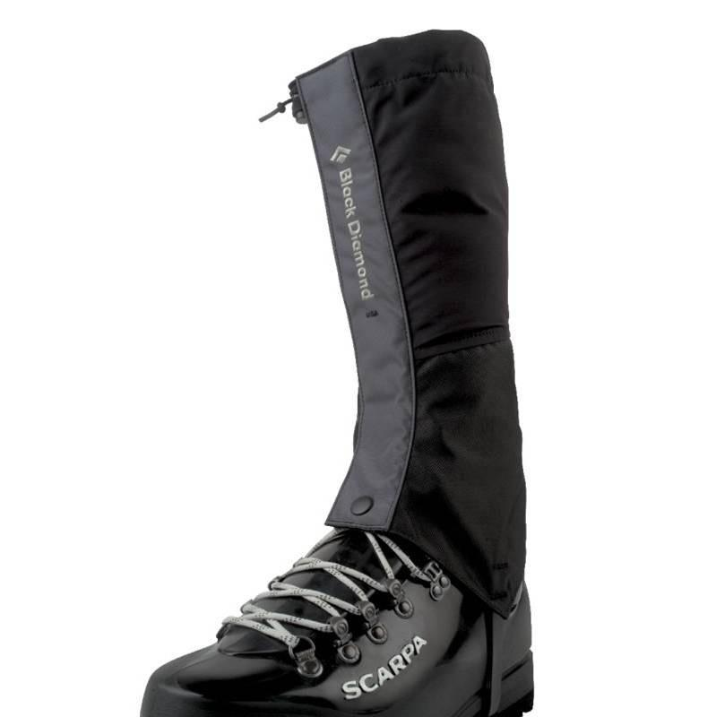 Black Diamond Frontpoint Gaiter GTX, shown on boot