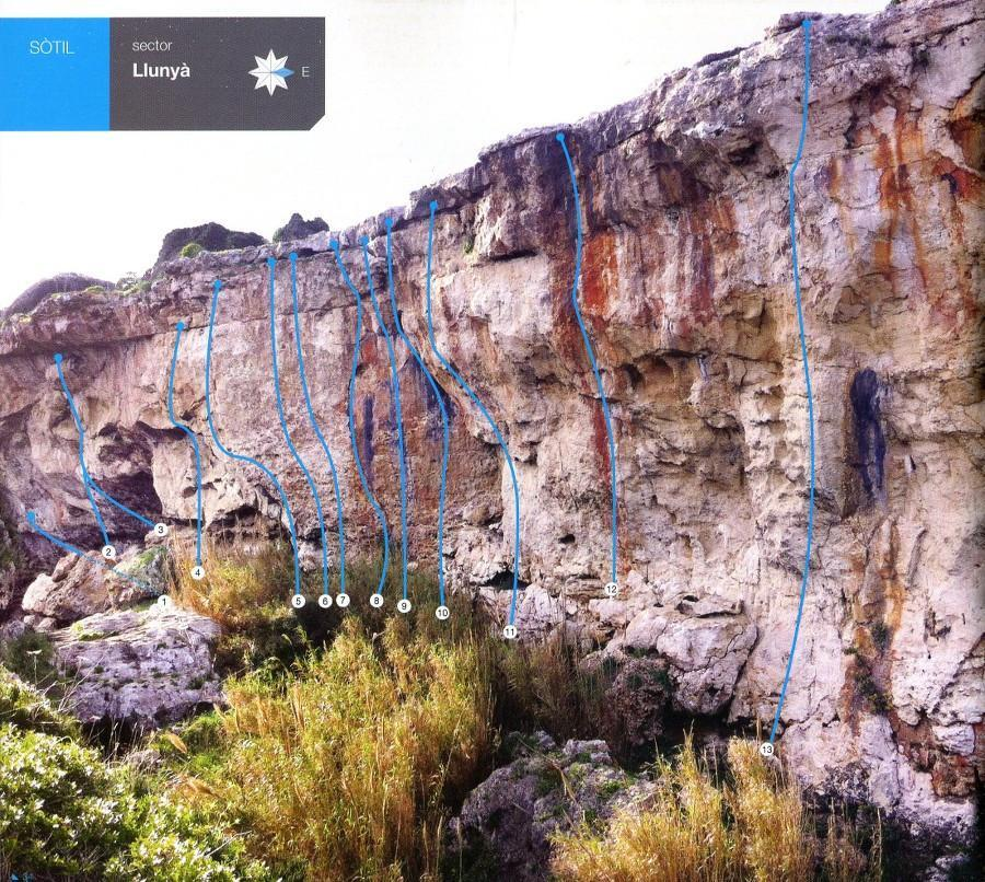 Menorca Sport Climbing, inside page example of a photo of the crag