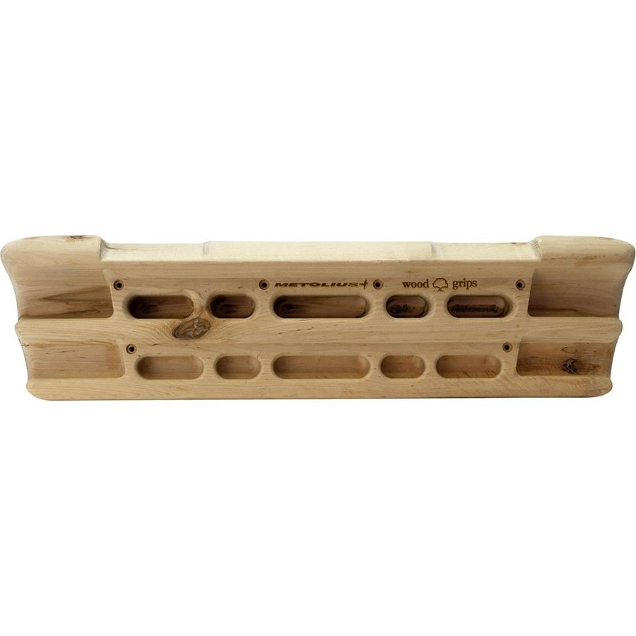 Metolius Wood Grips Compact II finger training board, front view