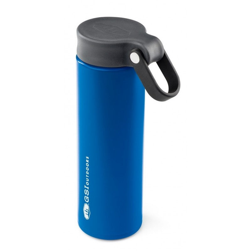 GSI Microlite 500 Twist flask in blue colour with black lid