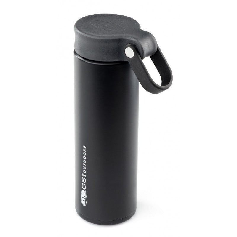 GSI Microlite 500 Twist flask in black colour with black lid