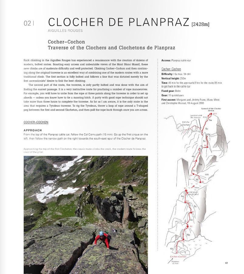 Mont Blanc: The Finest Routes, inside page text and photo example