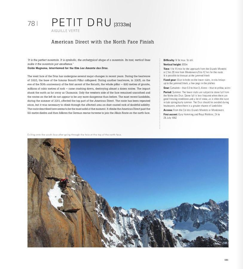 Mont Blanc: The Finest Routes guide, example inside pages