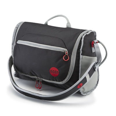 Moon Bouldering Pack, in Black shown in over the shoulder mode