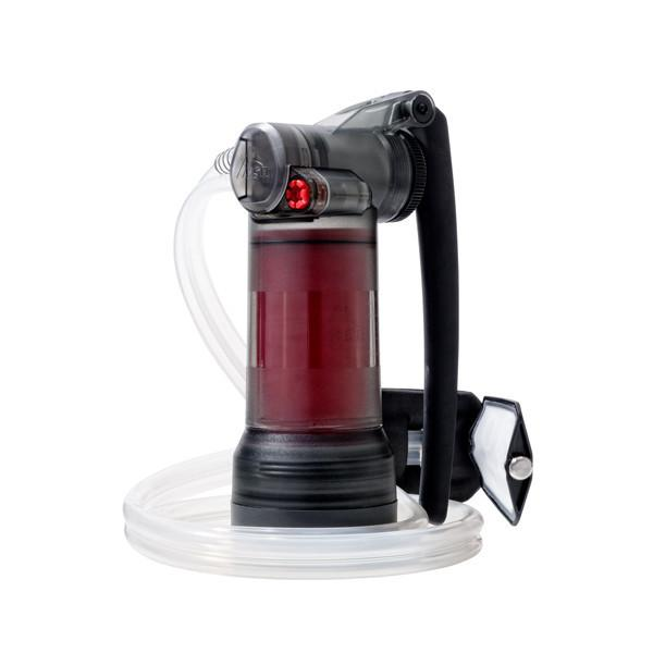 MSR Guardian Purifier, front/side view in red colour
