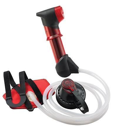 MSR HyperFlow Microfilter, in red colour with white hose
