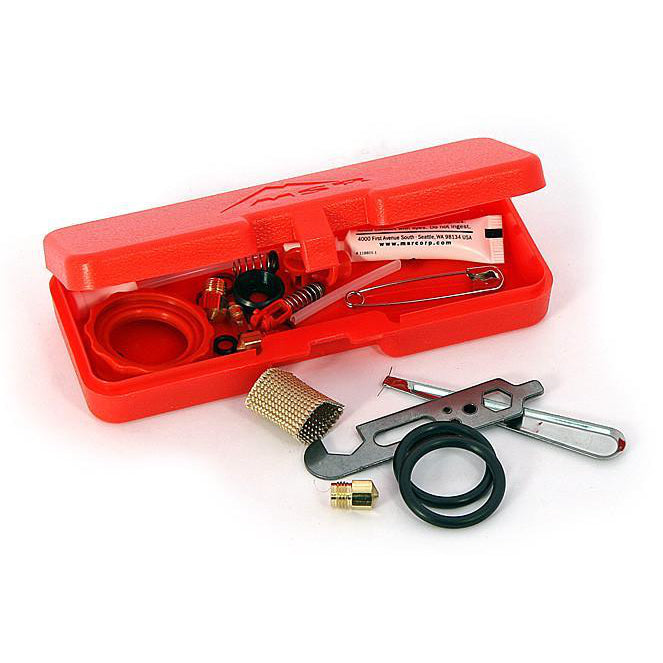 MSR WhisperLite Expedition Service Kit, in a red box