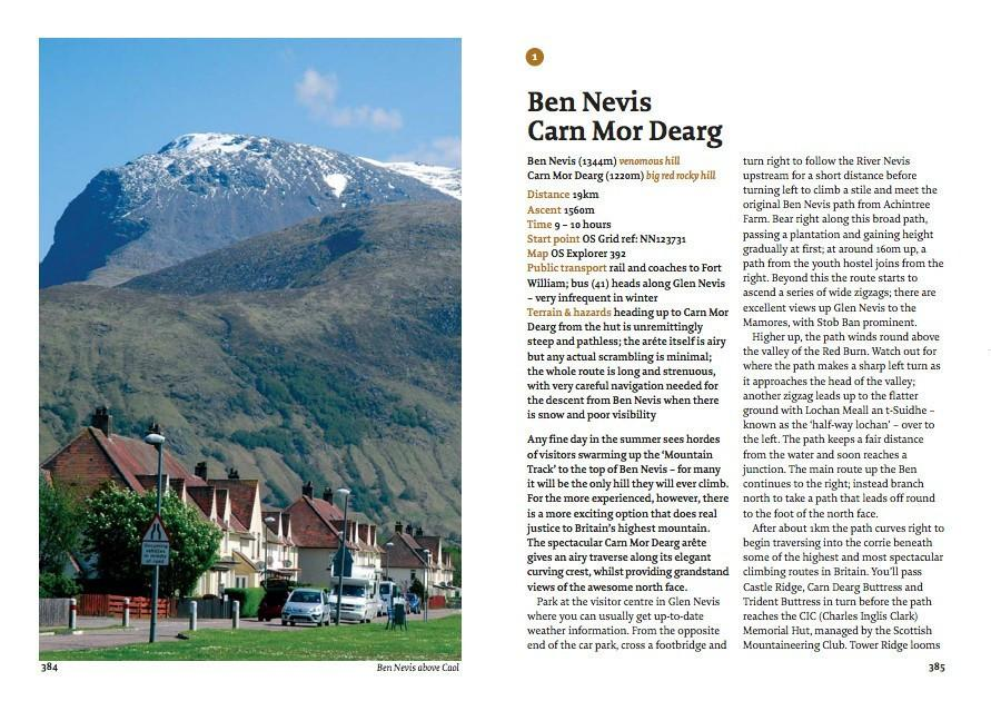 The Munros: A Walkhighlands Guide by Pocket Mountains, example inside pages showing photos and text