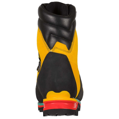Rear of La Sportiva Nepal Extreme in Black & Yellow