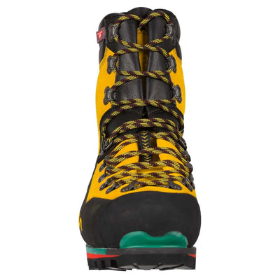 Front of La Sportiva Nepal Extreme in Black & Yellow