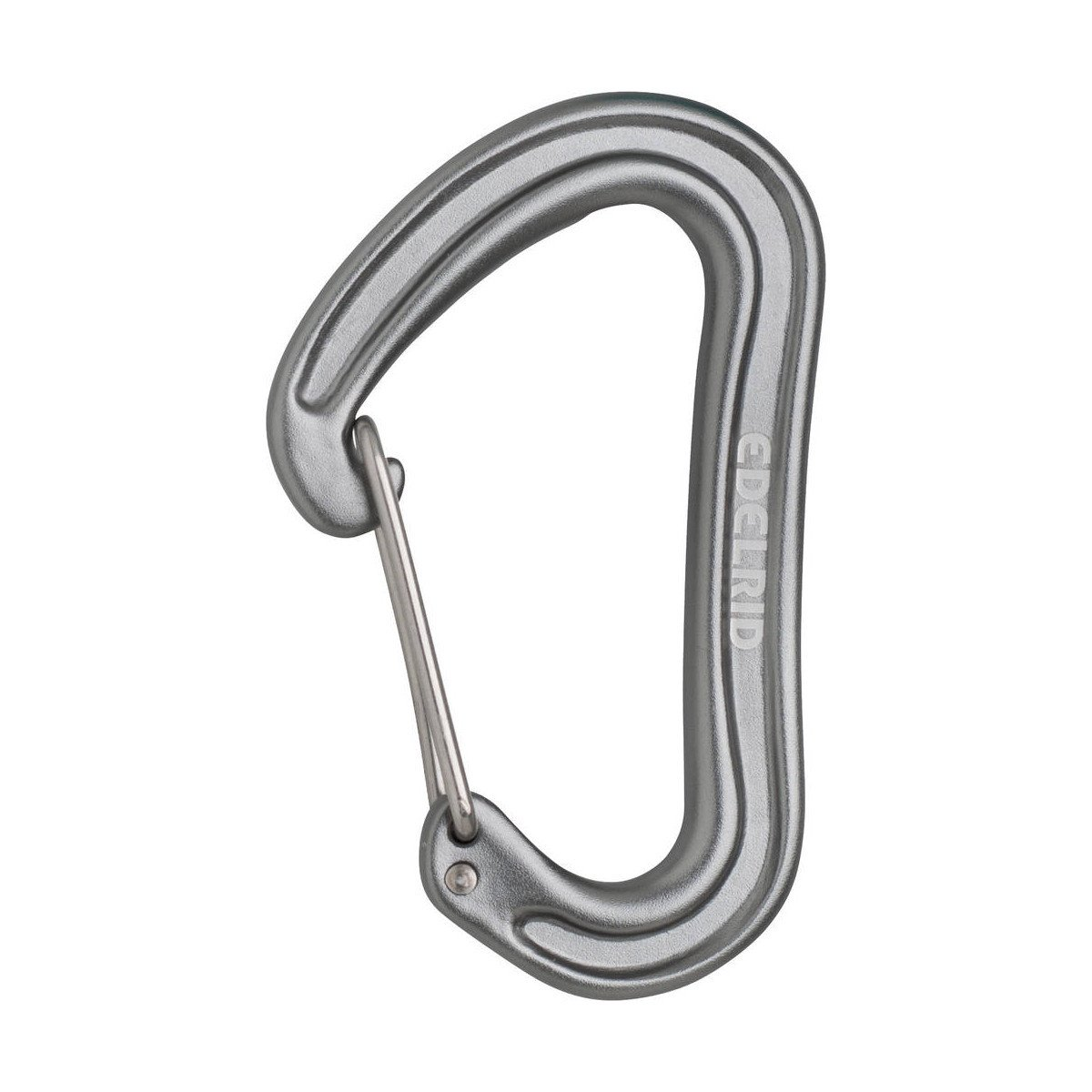 Edelrid Nineteen G wire gate carabiner in silver colour