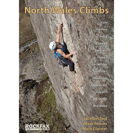 North Wales Climbs Rockfax climbing guidebook, front cover