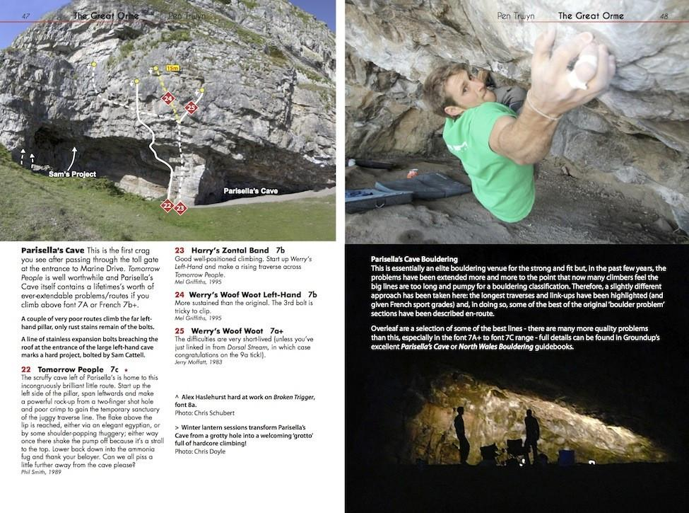 North Wales Limestone: The Definitive Guide, photos and topos