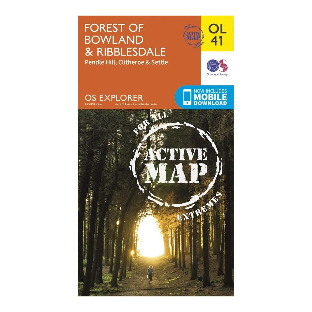 Forest of Bowland and Ribblesdale - OS Explorer Map 41 Active