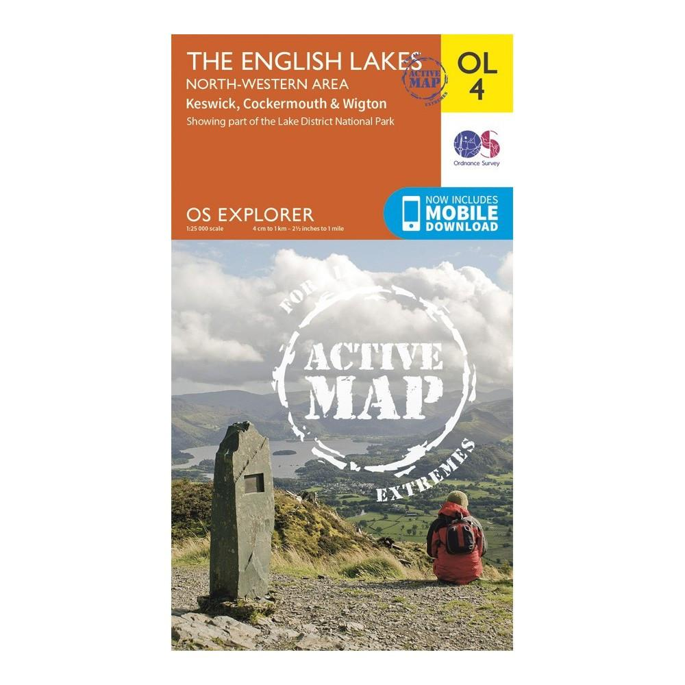 The English Lake District NW Area - OS Explorer Map OL4 Active