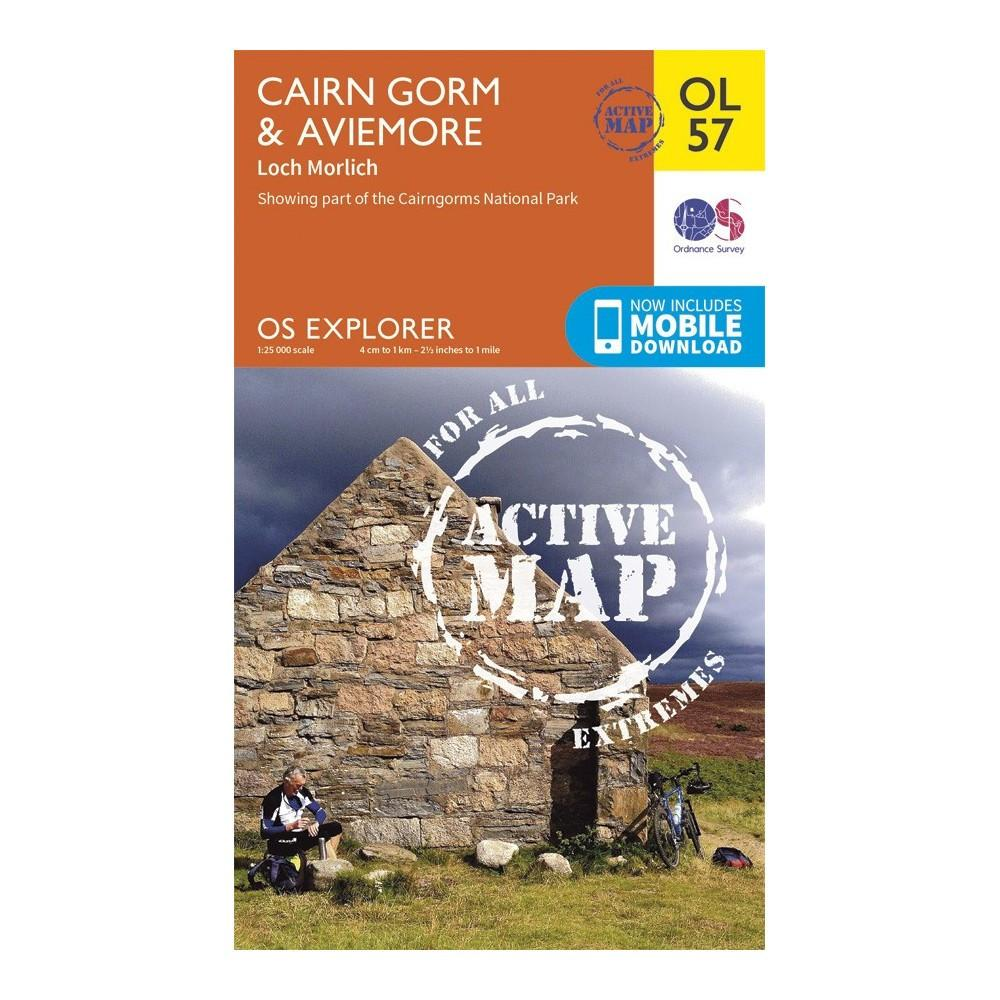 Cairn Gorm and Aviemore - OS Explorer Map 57 Active