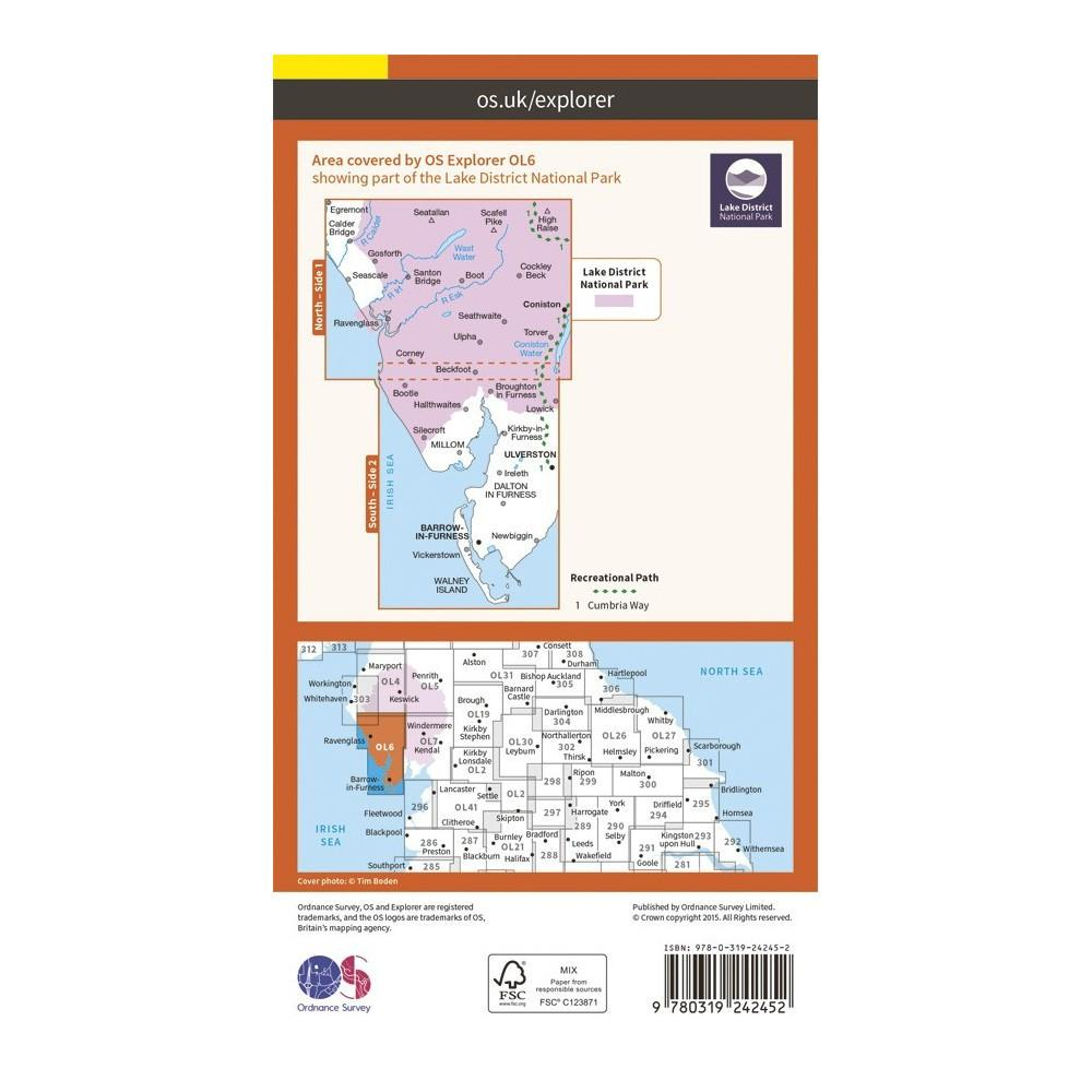 The English Lake District SW Area - OS Explorer Map OL6
