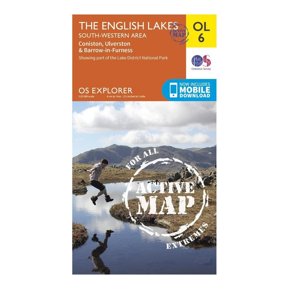 The English Lake District SW Area - OS Explorer Map OL6 Active