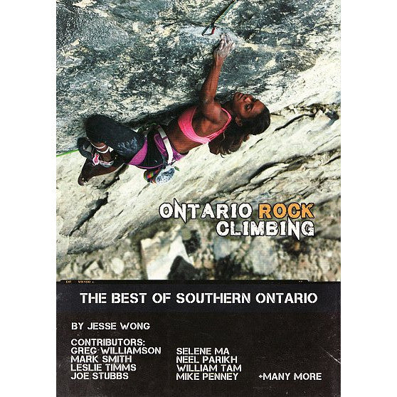 Ontario Rock Climbing guide Book Cover