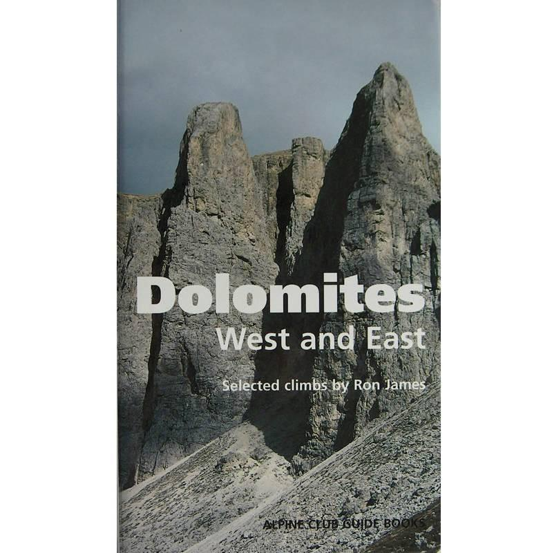 Dolomites West and East climbing guidebook, front cover