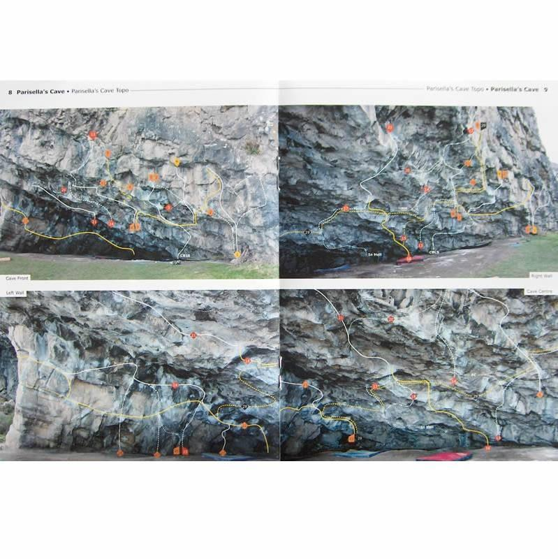 Parisellas Bouldering Guide, example pages inside showing photos