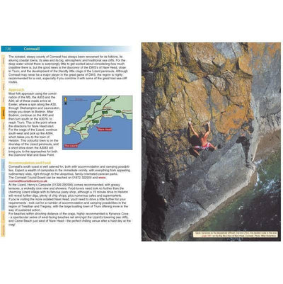 Deep Water guide, inside page examples showing maps and photos