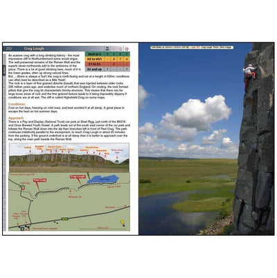 Northern England guide, inside page examples showing photos and directional maps