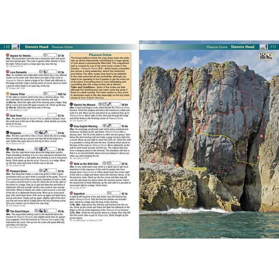 Pembroke Rockfax guide, example pages inside with photos and maps