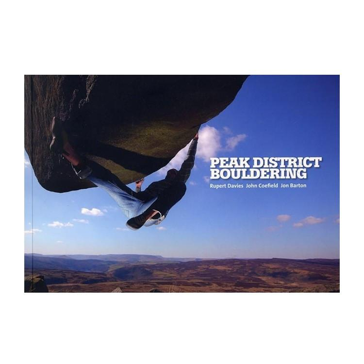 Peak District Bouldering guidebook, front cover